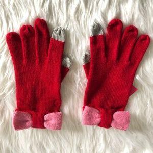 Kate Spade Color Block Bow Tech Gloves NWT